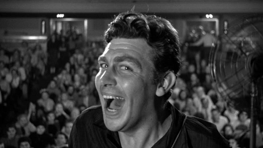 Andy Griffith enjoying the adulation of the crowd