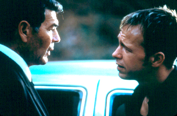 Robert Forster shares his wisdom with Donnie Wahlberg.