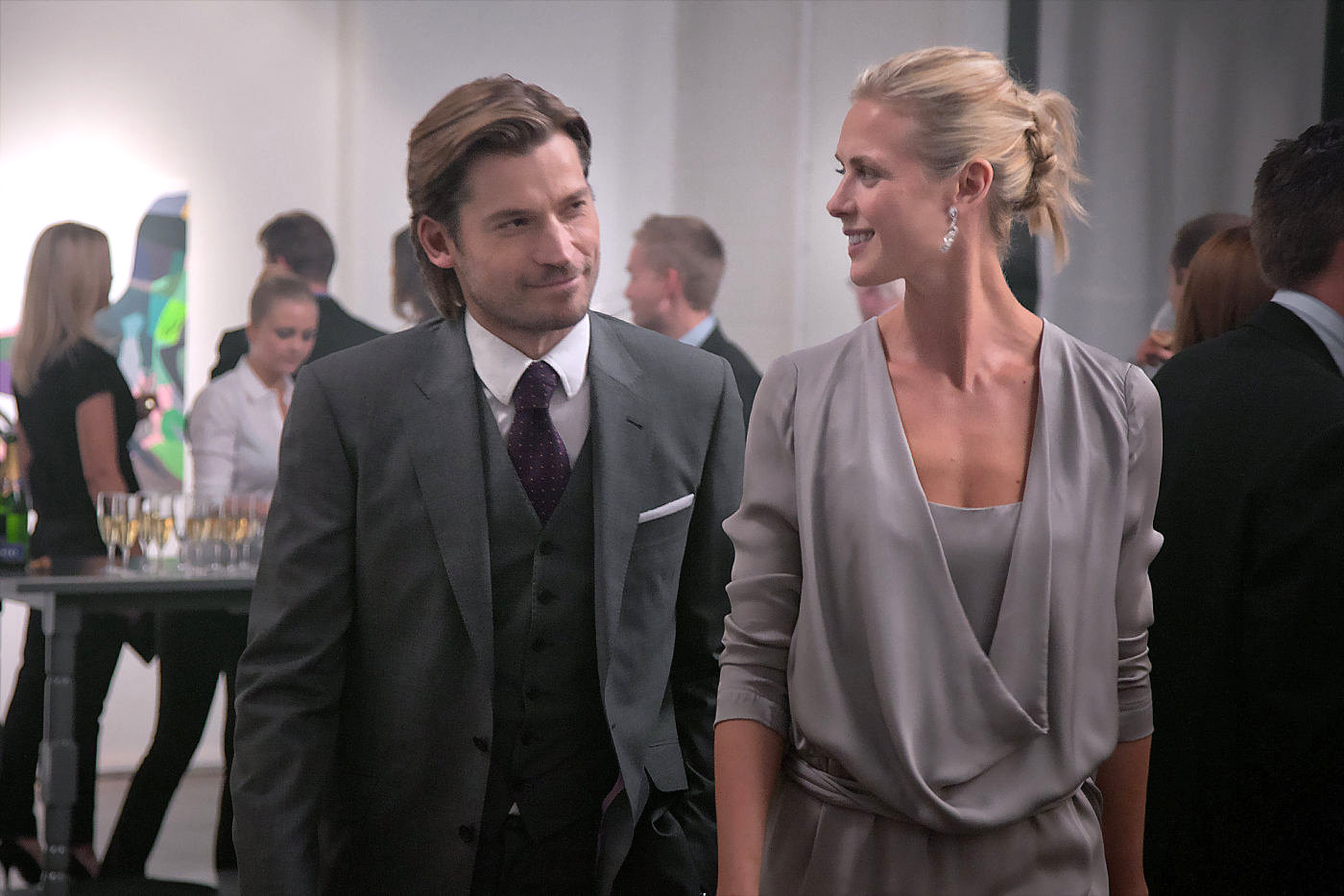 Clas Greve (Nikolaj Coster-Waldau) seems interested in Mrs. Brown (Synnøve Macody Lund), and she doesn't seem to mind.