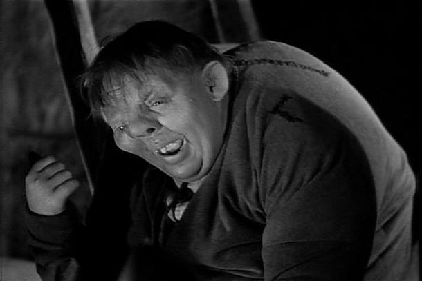 Charles Laughton as the lamentable hunchback