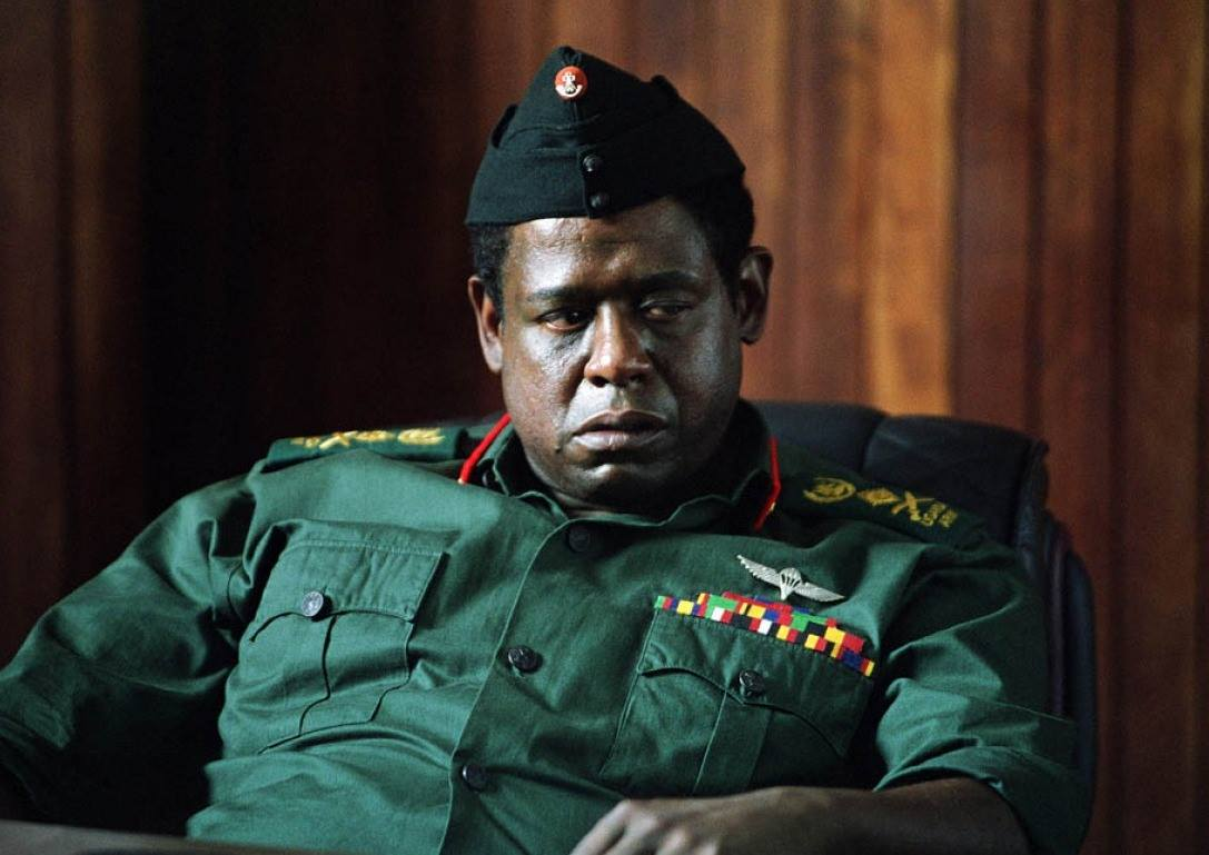 Forest Whitaker as dictator Idi Amin