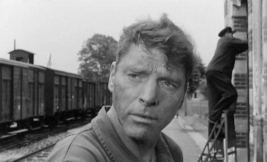 Burt Lancaster as the station master and French Resistance fighter, Labiche.